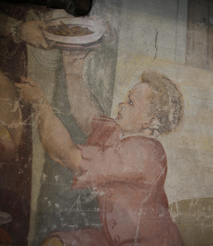 Dar de comer a quem tem fome. Francisco João (atribuído),  c. 1590-1595.